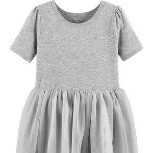Carter's 5T Heather Grey Tutu Dress Short NWT